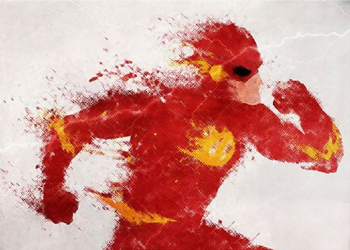 THE FLASH - CROSSHATCH ART canvas print - self adhesive poster - photo print